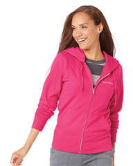 LAT - Women's Zip French Terry Hoodie Hot Pink