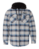 Burnside Quilted Flannel Full-Zip Hooded Jacket